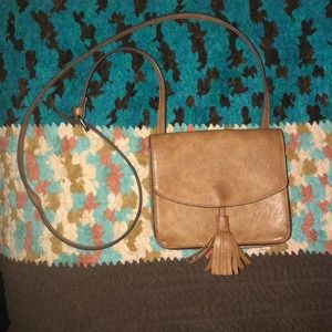 Vintage Brown leather side purse